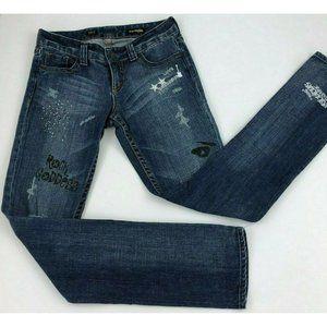 Express Stella Skinny Jeans Rock Goddess 2 A7-01